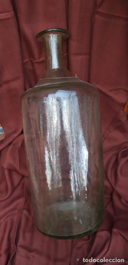 BOTELLON DE BOTICA DE FINALES DEL SIGLO XIX. (Antigüedades - Cristal y Vidrio - Farmacia )