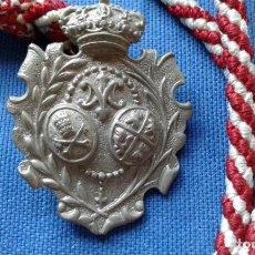 Antigüedades: SEMANA SANTA SEVILLA - MEDALLA MADRE DE DIOS DEL ROSARIO - PATRONA CAPATACES Y COSTALEROS. Lote 159027366