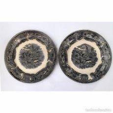 Antigüedades: 2 PLATOS DE LA FÁBRICA DE CARTAGENA LA AMISTAD, DEL SIGLO XIX. Lote 159033906