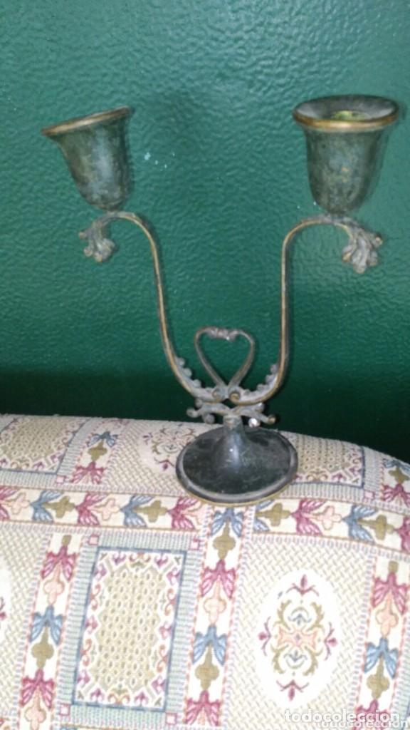 Antiquitäten: antiguo portavelas - Foto 2 - 159051398