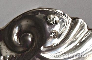 Antigüedades: CONCHA DE PLATA DE LEY CONTRASTADA. 7,4 X 6 CM APROX. 26,3 GRAMOS. VER FOTOS Y DESCRIPCION - Foto 17 - 159056054