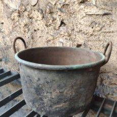 Antigüedades: ANTIGUA MARMITA MATANZA COBRE OLLA CALDERO CALDERA. Lote 159056992