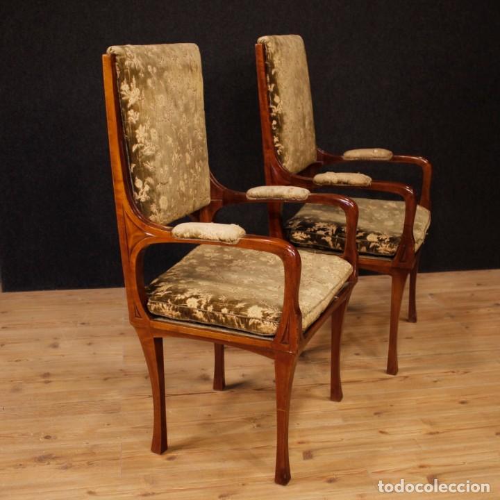 Antigüedades: Pareja de sillones franceses Art Nouveau - Foto 8 - 159065966