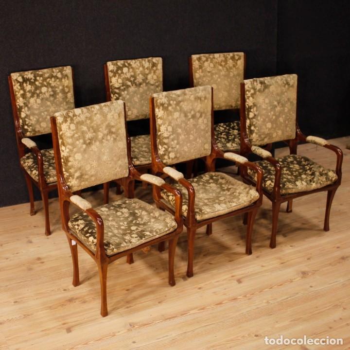 Antigüedades: Pareja de sillones franceses Art Nouveau - Foto 12 - 159065966