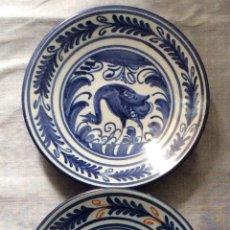Antigüedades: TALAVERA,ANTIGUOS PLATOS EN CERÁMICA DE TALAVERA ,DÉCADA AÑOS 60-19 CM . Lote 159076606