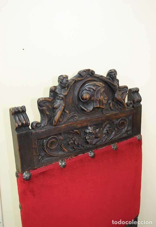 Antigüedades: DESPACHO ANTIGUO TALLADO ESTILO RENACIMIENTO ESPAÑOL - Foto 32 - 159104714
