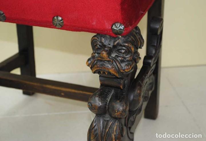 Antigüedades: DESPACHO ANTIGUO TALLADO ESTILO RENACIMIENTO ESPAÑOL - Foto 35 - 159104714