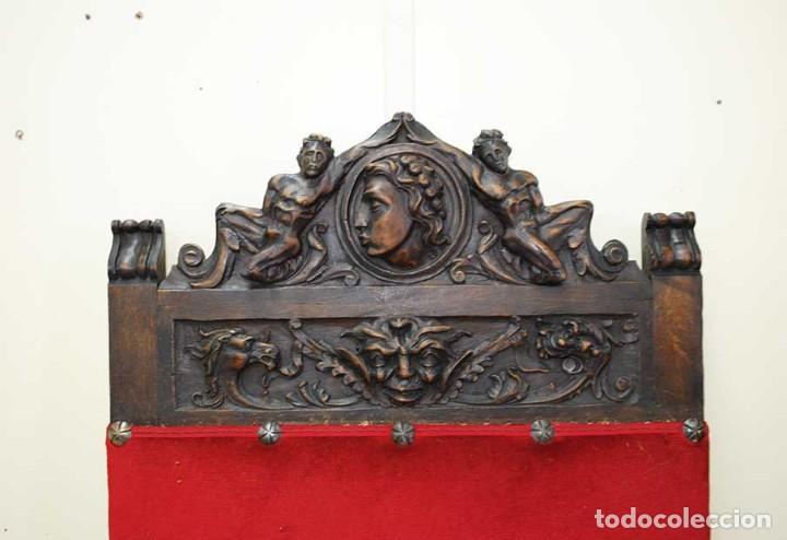 Antigüedades: DESPACHO ANTIGUO TALLADO ESTILO RENACIMIENTO ESPAÑOL - Foto 38 - 159104714