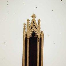 Antiquitäten - CAPILLA DE PARED HORNACINA DE MADERA POLICROMADA - 159104982