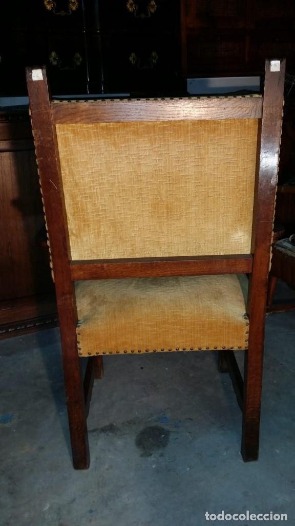 Antigüedades: 6 preciosas sillas del siglo pasado talladas y tapizado original - Foto 7 - 159105034