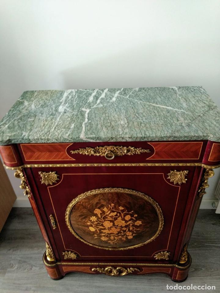 Antigüedades: Aparador, taquillon de madera noble con marqueteria. - Foto 2 - 159148962