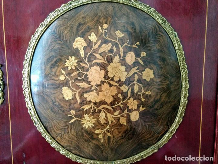 Antigüedades: Aparador, taquillon de madera noble con marqueteria. - Foto 4 - 159148962