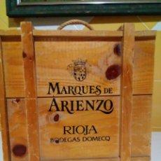 Oggetti Antichi: ANTIGUA CAJA DE MADERA PARA VINOS. Lote 159158894
