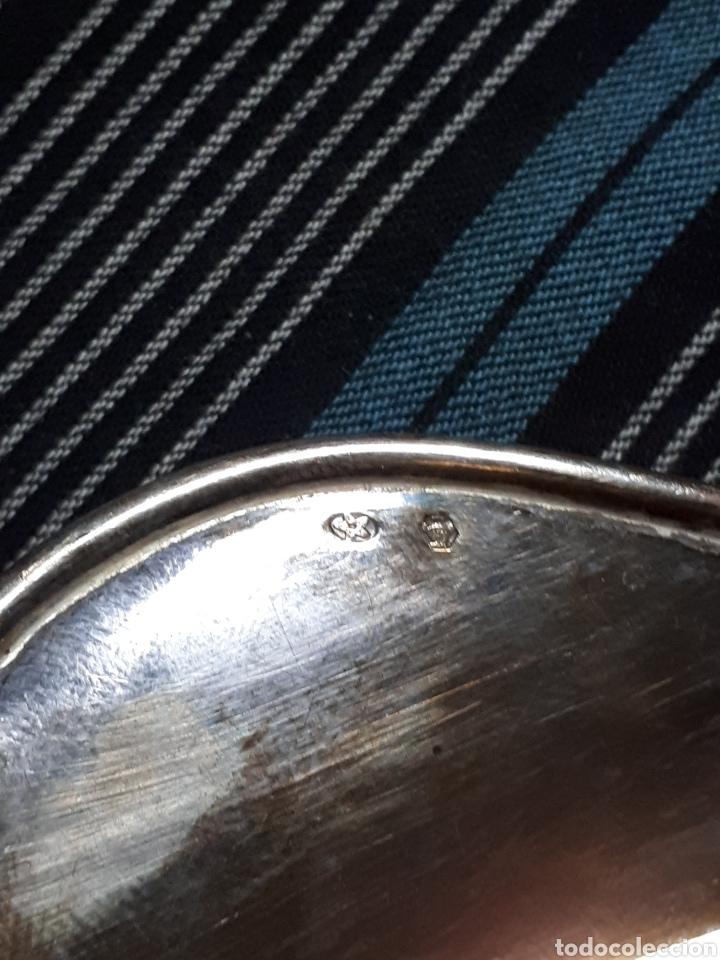 Antigüedades: Escribania pluma de plata de ley Pedro Durán - Foto 5 - 159159542