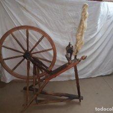 Antigüedades: RUECA HILANDERA... XIX. Lote 159164526