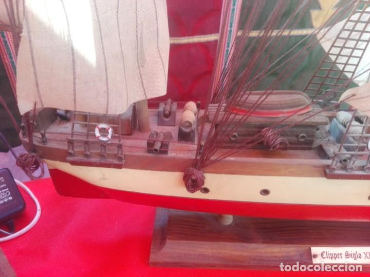 Antigüedades: Barco madera CLIPPER XIX - Foto 2 - 159179822
