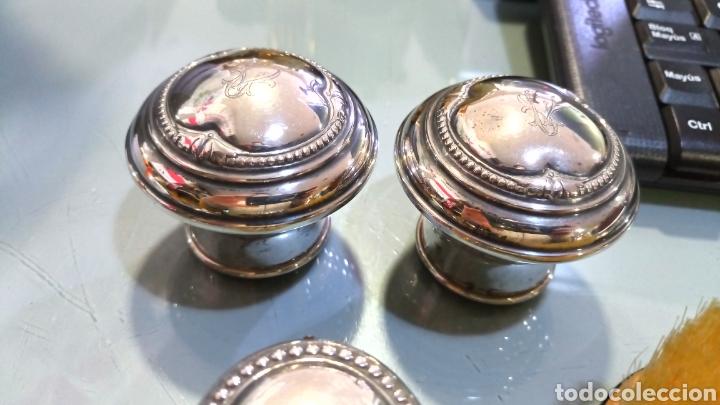 Antigüedades: Juego tocador plata de Ley - Foto 10 - 159197485