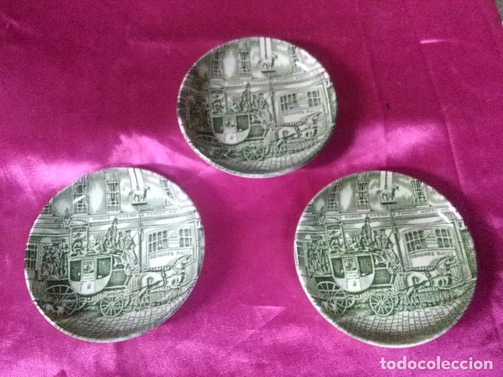 LOTE 3 PLATILLOS ÉPOCA CERÁMICA INGLESA JOHNSON BROTHERS. (Antigüedades - Porcelanas y Cerámicas - Inglesa, Bristol y Otros)