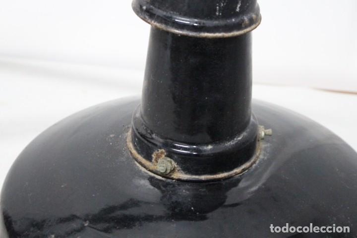 Antigüedades: enorme lampara industrial Egsa de 40 cm de diametro. años 30 - Foto 4 - 159203114