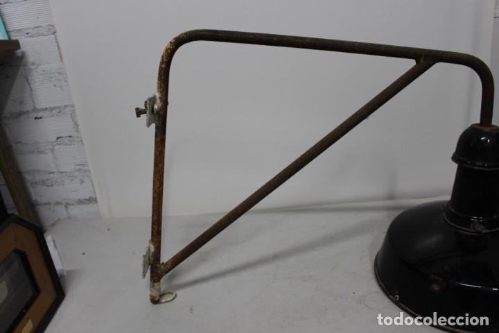 Antigüedades: enorme lampara industrial Egsa de 40 cm de diametro. años 30 - Foto 9 - 159203114