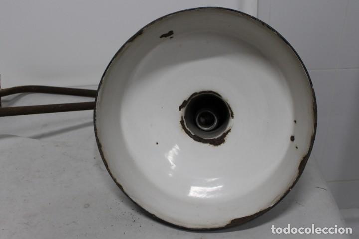 Antigüedades: enorme lampara industrial Egsa de 40 cm de diametro. años 30 - Foto 14 - 159203114