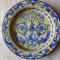 Antigüedades: PLATO DE CERÁMICA DE GRANDES DIMENSIONES. Lote 159229066