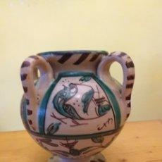 Antigüedades: JARRÓN CERÁMICA DE TERUEL. Lote 159229082