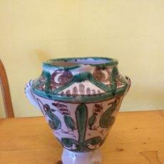 Antigüedades: JARRÓN DE CERÁMICA DE TERUEL. Lote 159229437