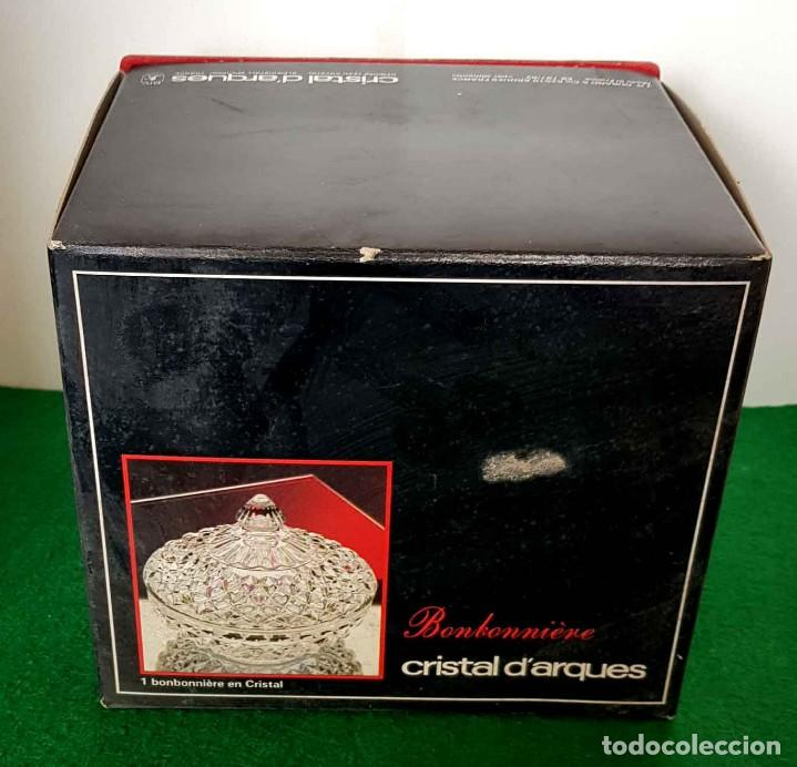Antigüedades: BOMBONERA CRISTAL D´ARQUES, nueva - Foto 8 - 159231910