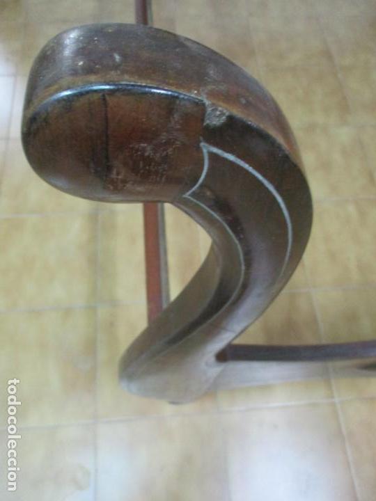 Antigüedades: Antigua Cama Isabelina - Madera Jacarandá, Marquetería de Zinc - Patas de Cuello de Cisne - S. XIX - Foto 5 - 159235810