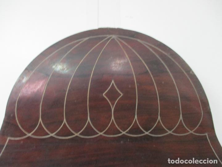 Antigüedades: Antigua Cama Isabelina - Madera Jacarandá, Marquetería de Zinc - Patas de Cuello de Cisne - S. XIX - Foto 22 - 159235810