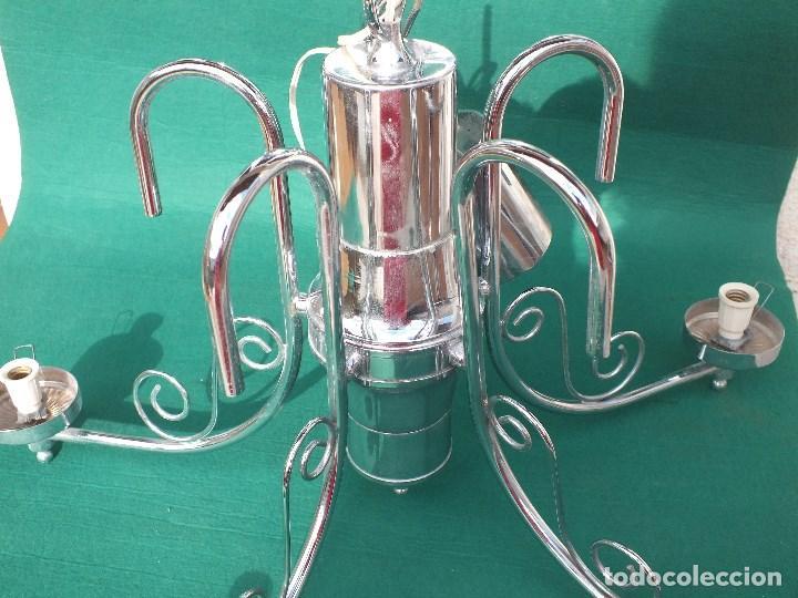 LAMPARA CROMADA SIN TULIPAS (Antigüedades - Iluminación - Lámparas Antiguas)