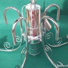 Antigüedades: LAMPARA CROMADA SIN TULIPAS. Lote 159254794