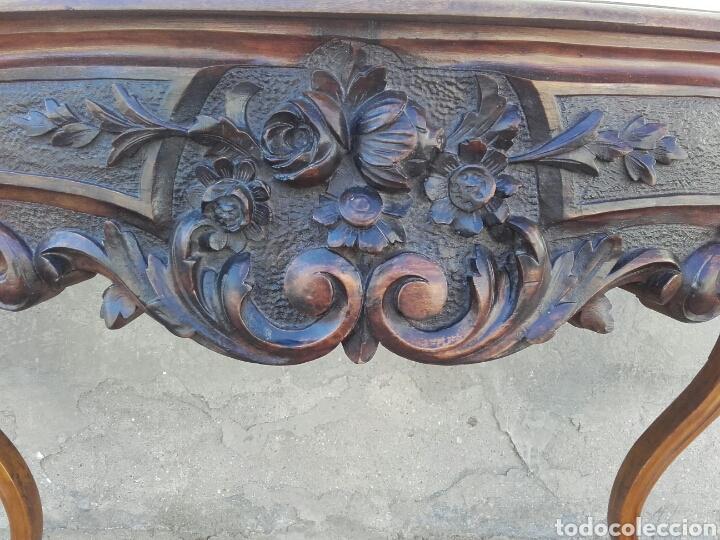 Antigüedades: ELEGANTE CONSOLA ISABELINA DE NOGAL, SIGLO XIX. - Foto 4 - 159260422