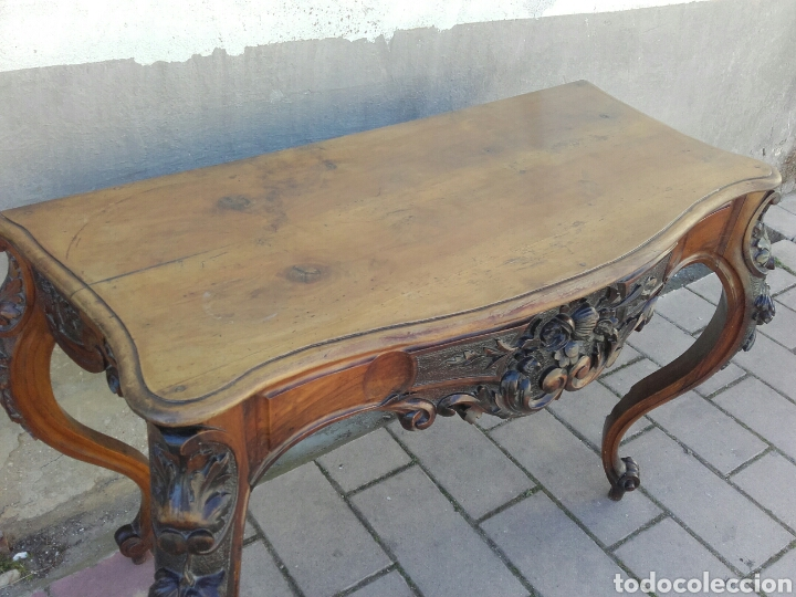 Antigüedades: ELEGANTE CONSOLA ISABELINA DE NOGAL, SIGLO XIX. - Foto 8 - 159260422