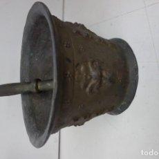 Antigüedades: MORTERO DE BRONCE DE GRANDES DIMENSIONES DEL SIGLO XX. Lote 159272770