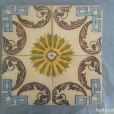 Antigüedades: AZULEJOS ANTIGUOS SIGLO XVIII-XIX PINTADOS A MANO. Lote 159283362