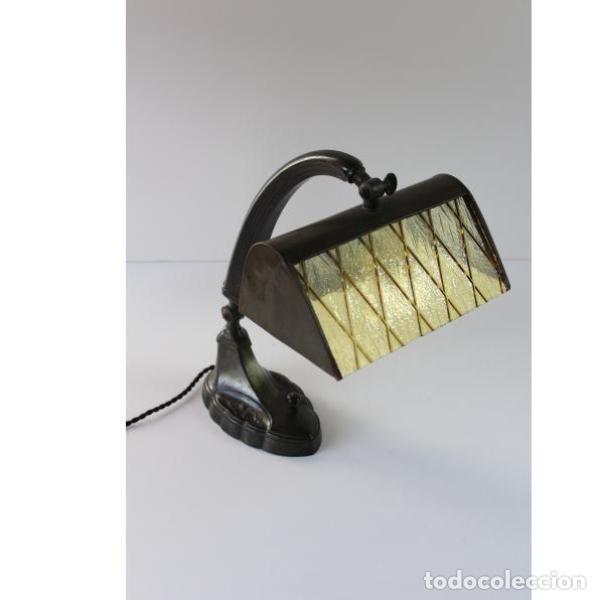 ANTIGUA LÁMPARA DE MESA ART-DECO AÑOS 20 ORIGINAL (Antigüedades - Iluminación - Lámparas Antiguas)