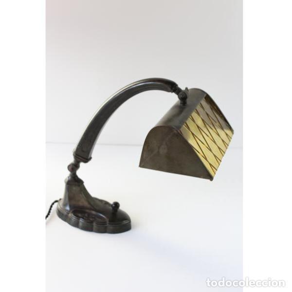 Antigüedades: Antigua lámpara de mesa art-deco - Foto 3 - 159285426