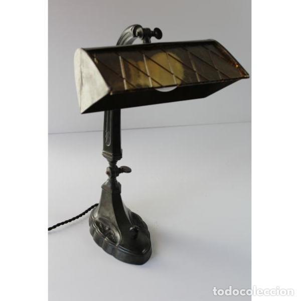 Antigüedades: Antigua lámpara de mesa art-deco - Foto 8 - 159285426