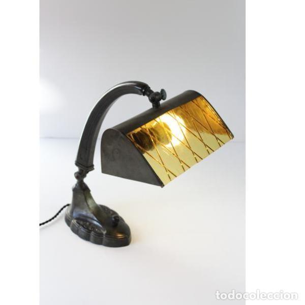 Antigüedades: Antigua lámpara de mesa art-deco años 20 original - Foto 10 - 159285426