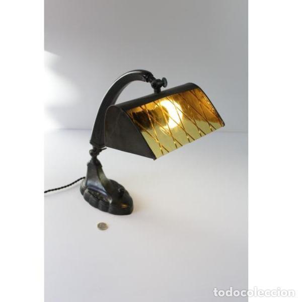 Antigüedades: Antigua lámpara de mesa art-deco - Foto 12 - 159285426