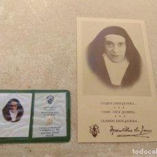 Antigüedades: RELIQUIA Y ESTAMPA MADRE MARAVILLAS DE JESÚS. Lote 159296418