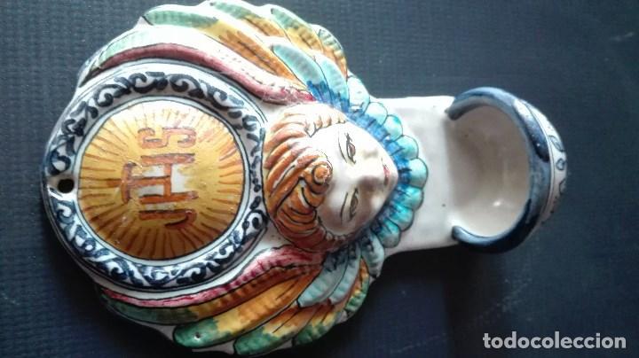 Antigüedades: BENDITERA CERAMICA - Foto 2 - 159346170