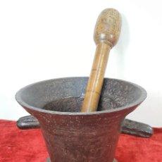 Antigüedades: MORTERO. HIERRO. ESPAÑA. SIGLO XVII. . Lote 159361690