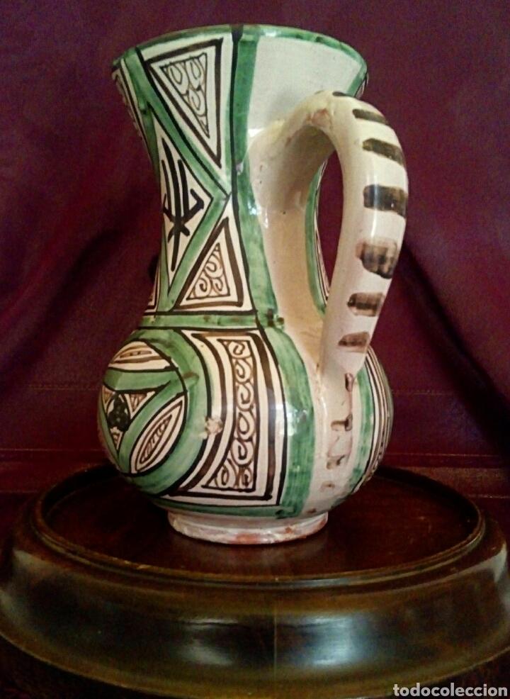 Antigüedades: Jarra de cerámica Domingo Punter. Teruel. - Foto 2 - 159378006