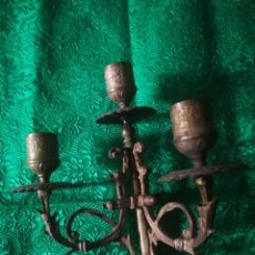Antigüedades: TRES BRAZOS ANTIGUO CANDELABRO. Lote 159380326