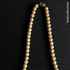 Antigüedades: ENCANTADOR COLLAR DE PERLAS O SIMILAR. Lote 159386350