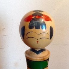 Antigüedades: MUÑECA TRADICIONAL JAPONESA. - KOKESHI - PINTADA Y FIRMADA.. . ENVIO CERTIFICADO INCLUIDO.. Lote 159393450