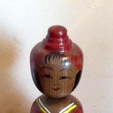 Antigüedades: MUÑECA TRADICIONAL JAPONESA. - KOKESHI - PINTADA Y FIRMADA... . ENVIO CERTIFICADO INCLUIDO.. Lote 159394274